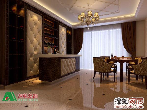 嘉和城别墅装修简欧风格设计,嘉和城卢瓦河谷300平米别墅装高清图片