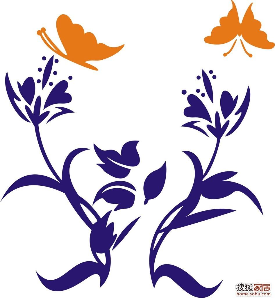 蝴蝶花纹矢量图__花纹花边; 蝴蝶矢量图片; ltx-40-济南装修集采论坛