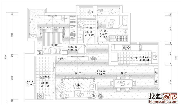 2-升禾·绿城世界小区装修设计图,89平装修户型分析
