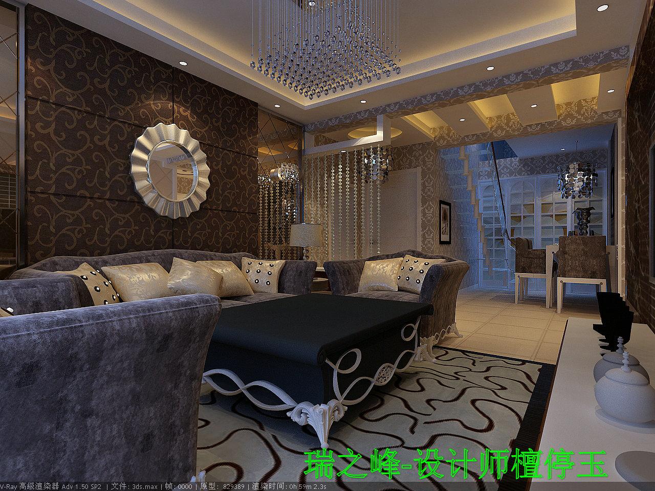 奢华的家具精美华丽,明亮的色彩相互交错,所有豪华的家饰,个性