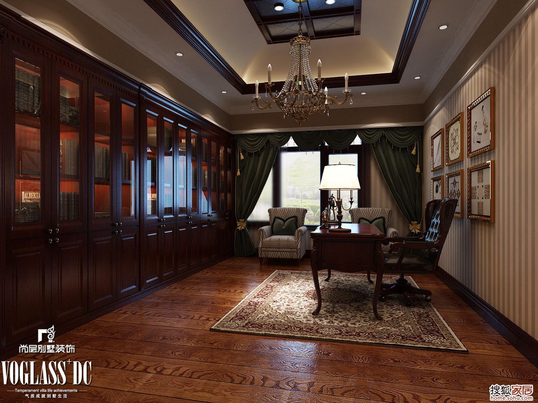 图:古典欧式装修风格,中海世家别墅设计案-苏州装修