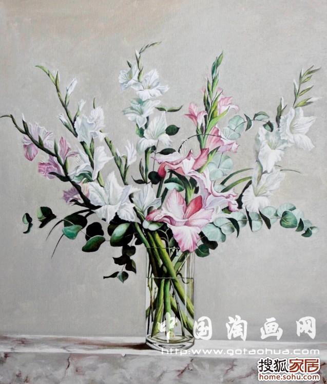 油画作品 花卉高清图片