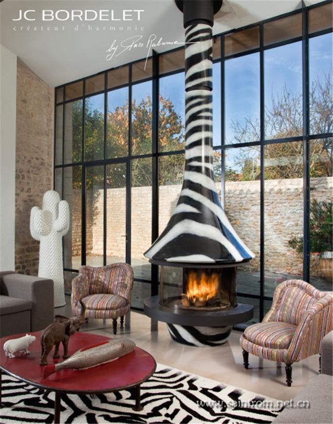 现代异型采暖壁炉-发表于