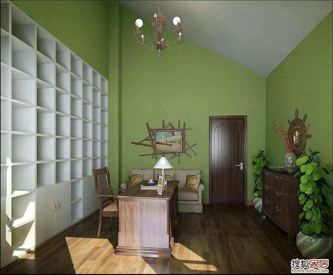 绿色欧式卧室装仹f