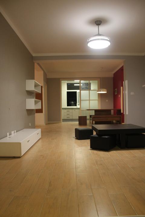 初步装修完成入部分家具效果图~~无吊顶无射灯无电视