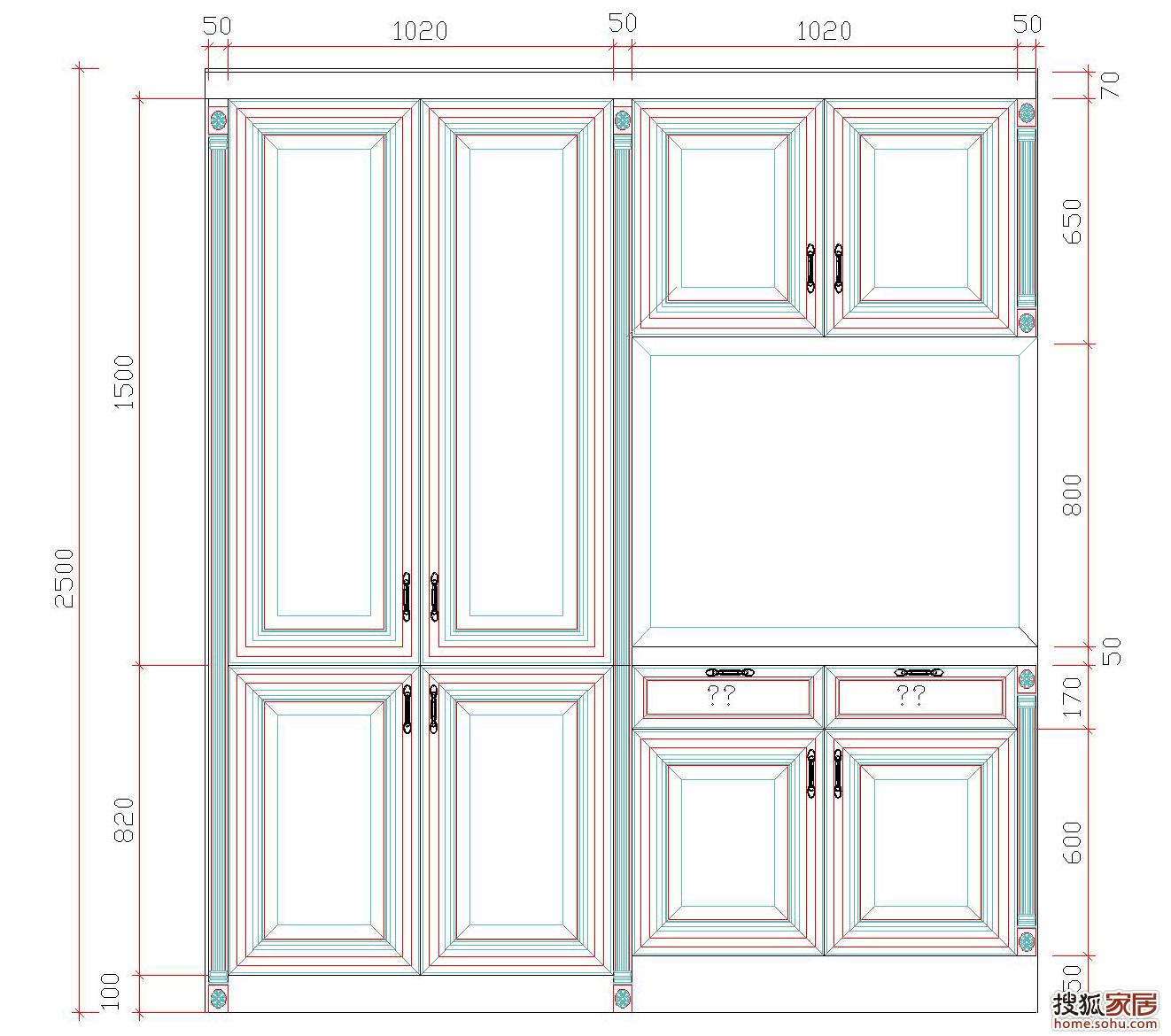 卧室衣柜内部设计图卧室书房一体效果图大全 一起装修网图库 第2页