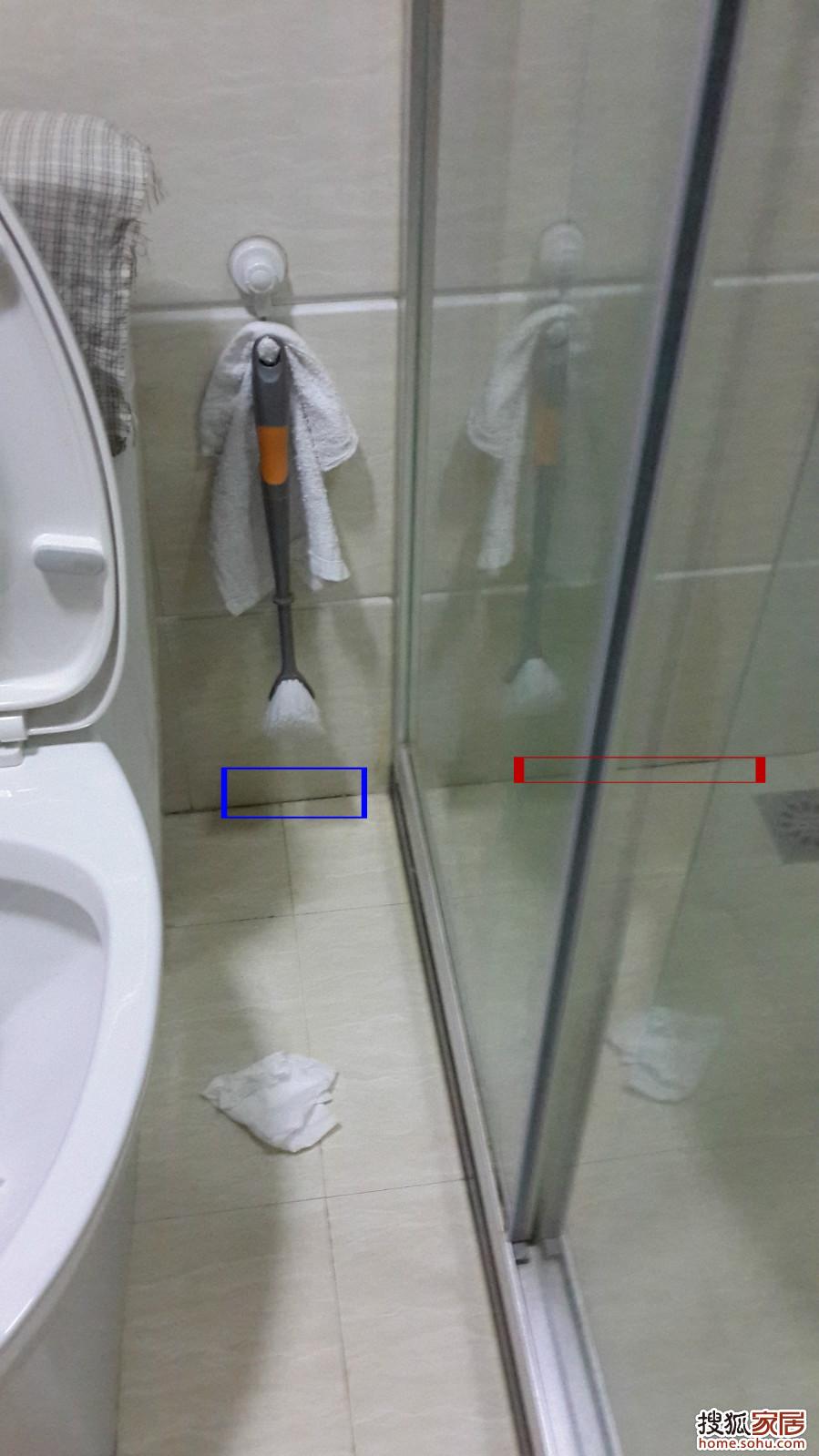 求助 淋浴房外面的地砖往 郑州装修高清图片