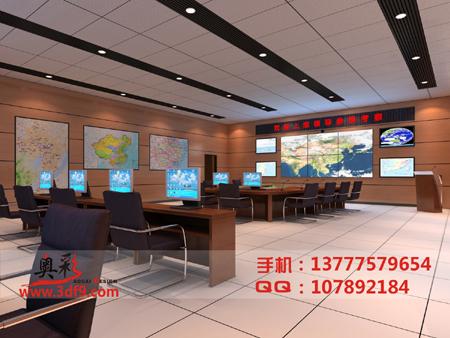 机房装修效果图,监控机房效果图,机柜设计效果图 高清图片