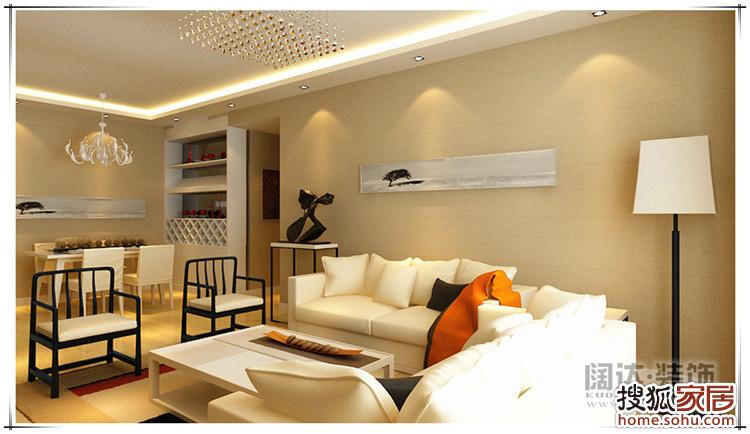五华区名匠誉峰88平方米现代风格装修效果图高清图片