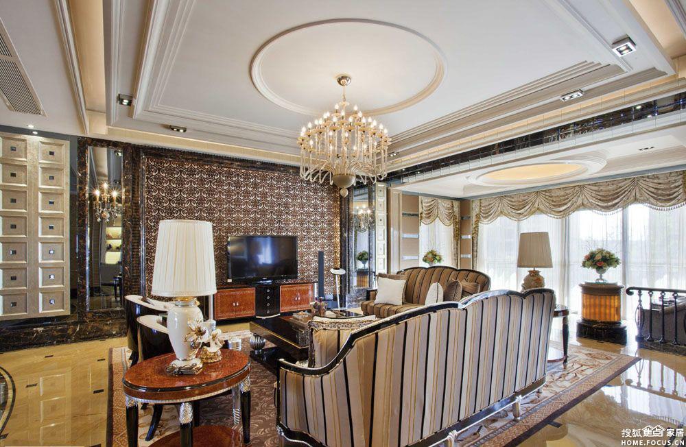 现代客厅天花设计图