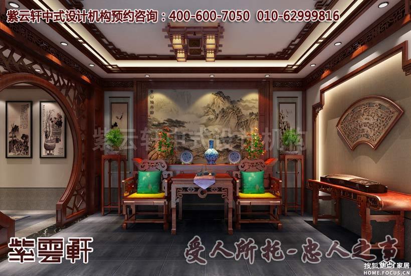图:江苏扬州唐郡别墅中式装修设计案例效果-武汉装修