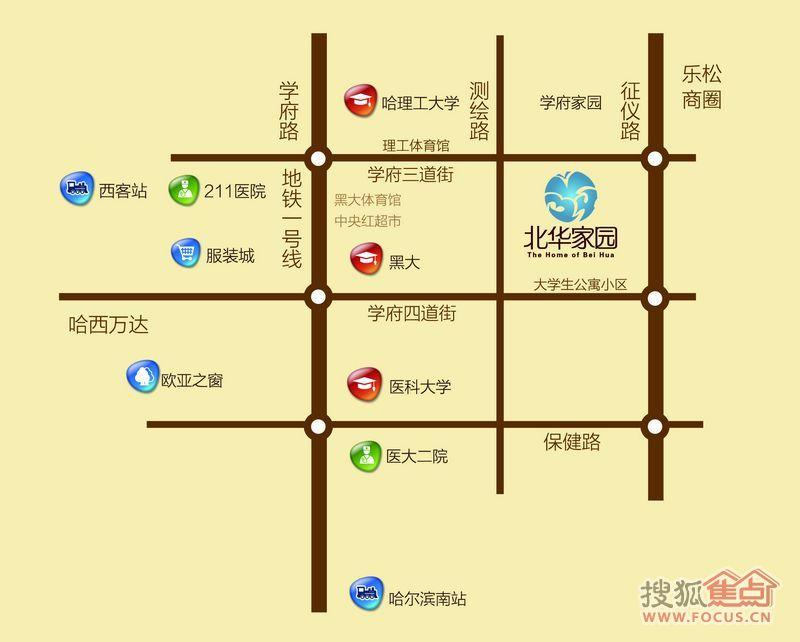 北华东校区平面图