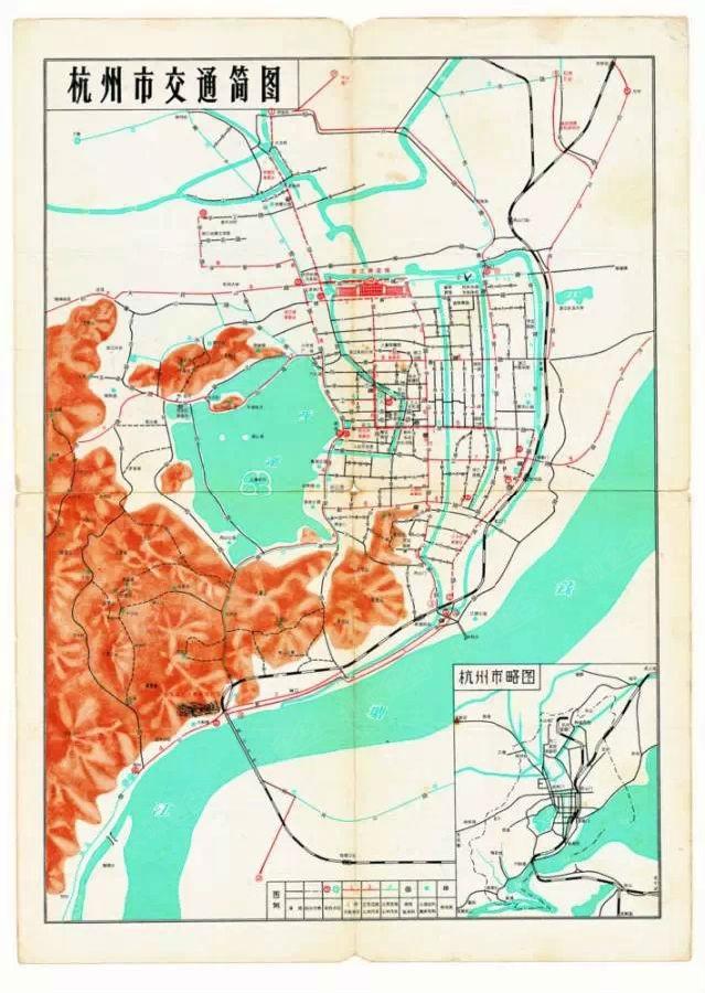 最新版杭州地图来了!档案馆里8张老地图带你穿越杭州100年