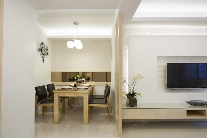 8万元打造龙湖春江郦城三室两厅一卫90平方装修案例高清图片