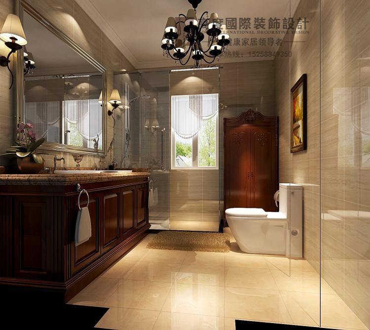 壹号 平层豪宅样板间效果图简美风格装修设计案例高清图片
