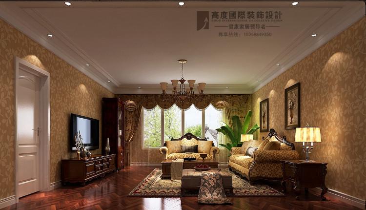 平层豪宅样板间效果图简美风格装修设计案例高清图片