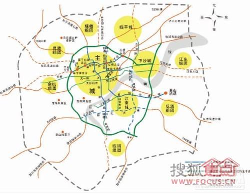 城东新城土地级别划分 这只代表杭州市当前的土地使用情况图片