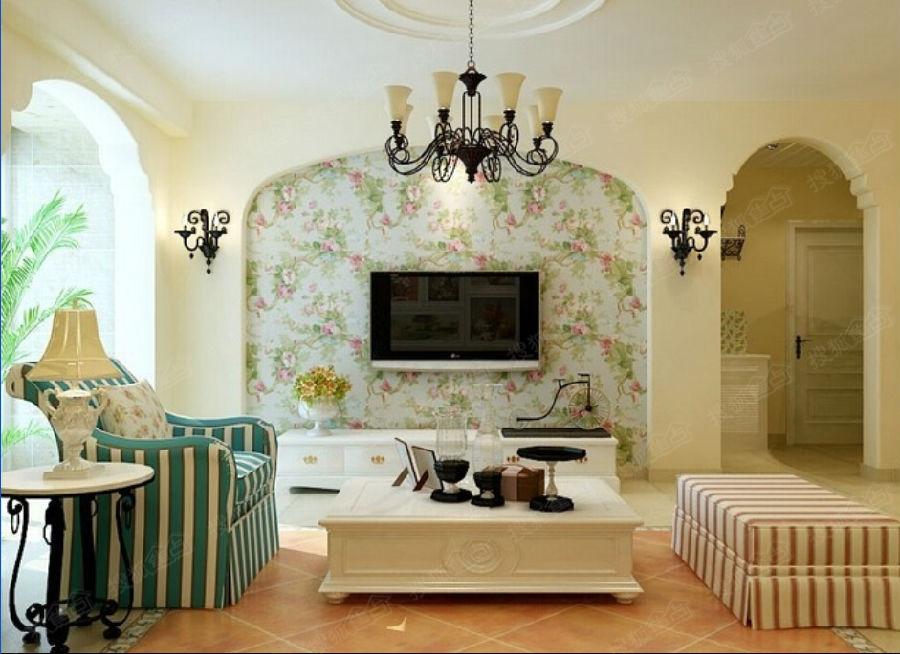 > 家的品味不可忽视的部分——各种风格电视背景墙   美式乡村风格,是图片