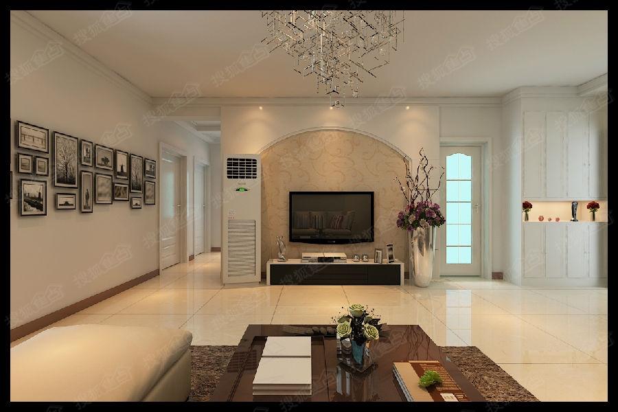上图是客厅,客户没有吊顶,只是做了顶角线.白色墙面用的是高清图片