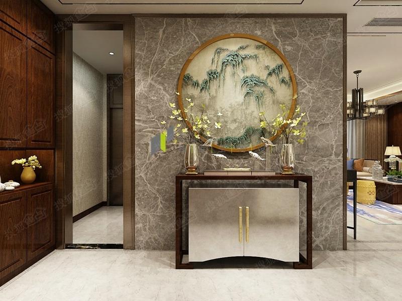 济南开元府283平新中式风格设计效果图|和垚空间设计