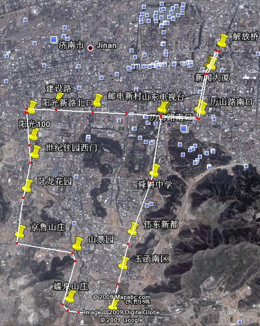 我设想的BRT3号线路图 阳光100国际新城 济南搜狐焦点业主论坛图片