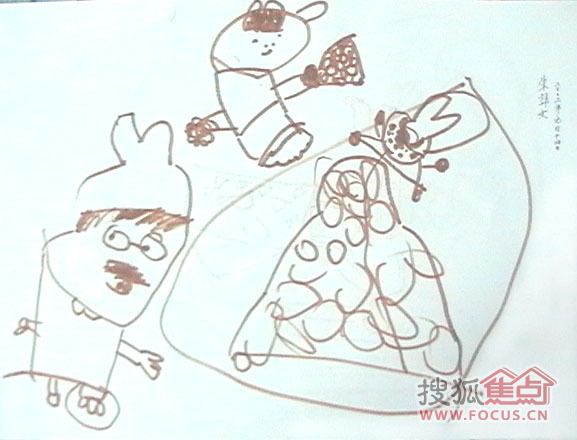 2岁小孩子涂鸦