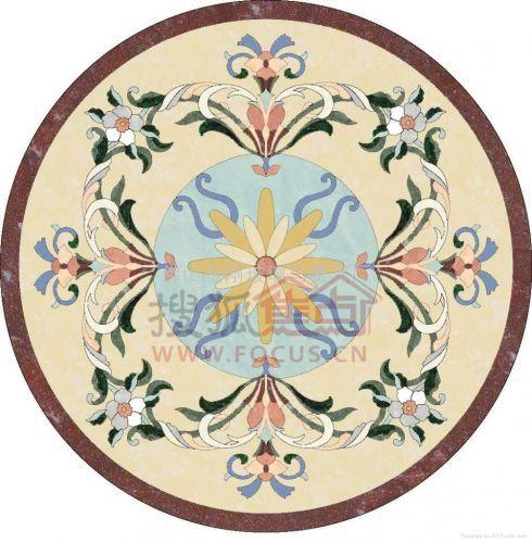 图:体现高贵典雅的装修风格-石材拼花