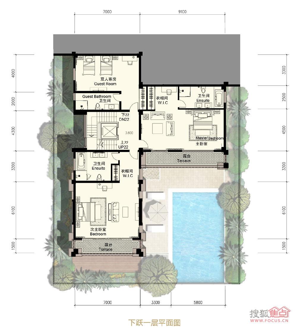 3厅2厨6卫2多功能厅建面593㎡下跃一层平面图I户型户型图片