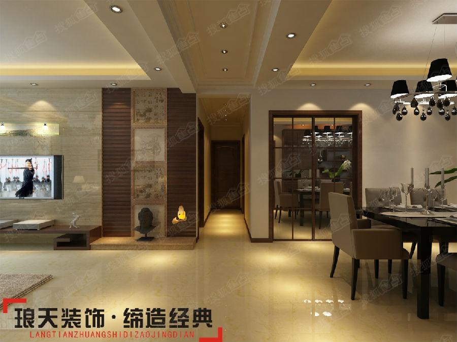 新中式风格装修效果图--过道-上海滩华府142㎡ 新中式风格高清图片