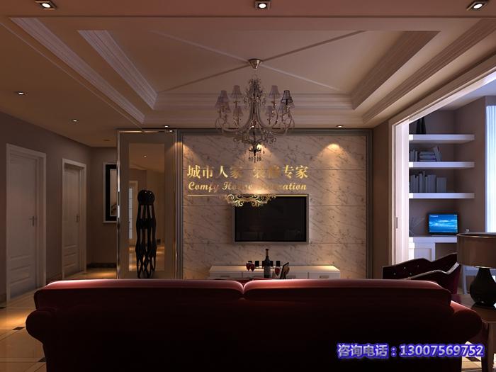 康城尚座140平简欧风格装修效果图,简约而时尚 高清图片