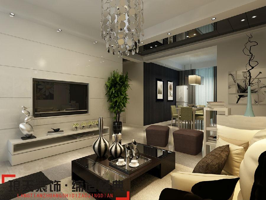 现代简约风格装修效果图--电视背景墙高清图片