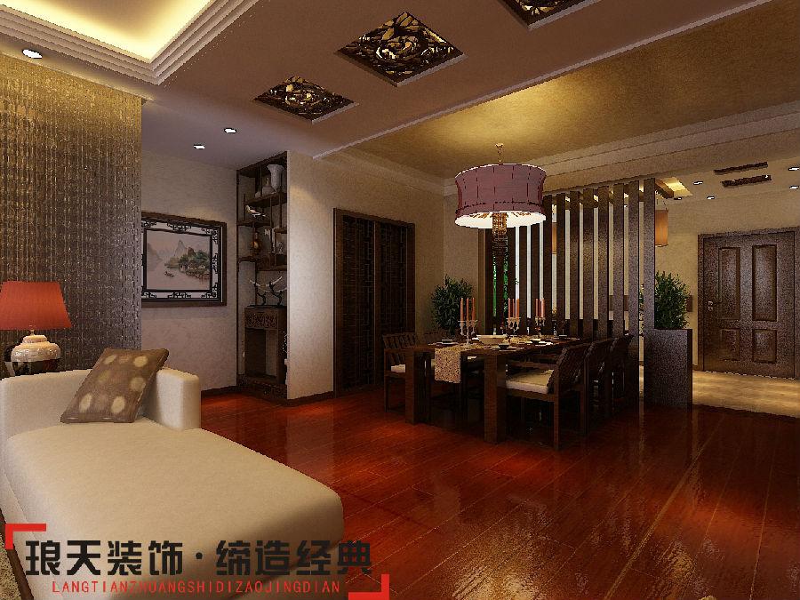 新中式风格装修效果图--餐厅-东方今典165㎡ 新中式风格高清图片