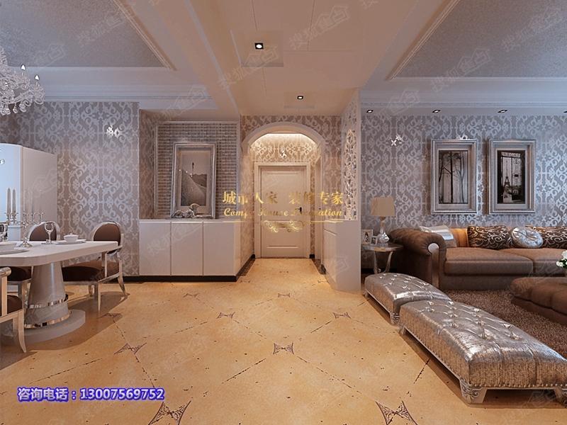 140平米欧式三居室装修,以低调的绚丽营造高品质生活 高清图片