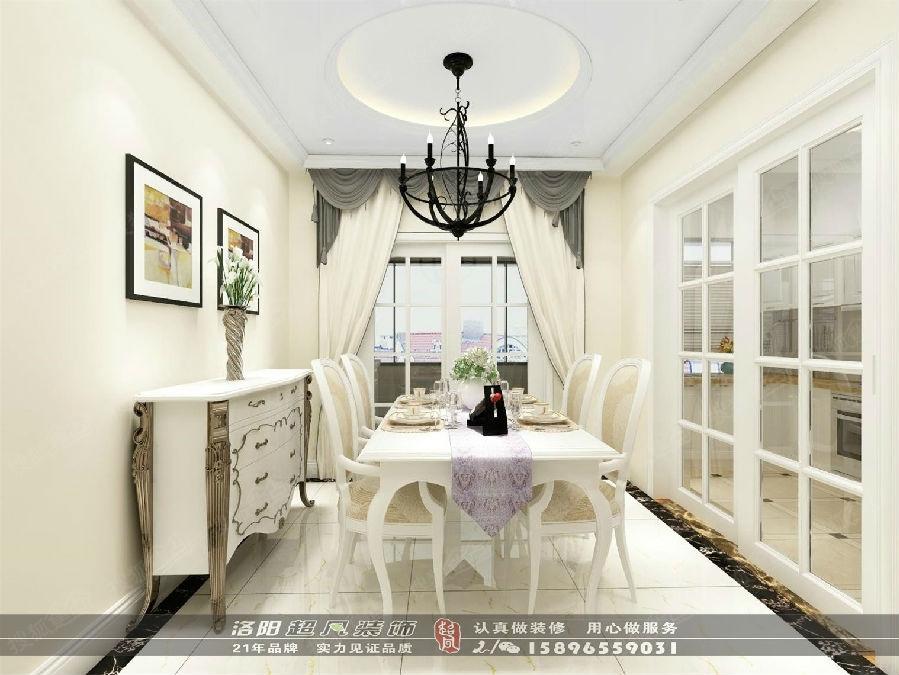 米兰印象3室装修效果图设计|洛阳超凡装饰
