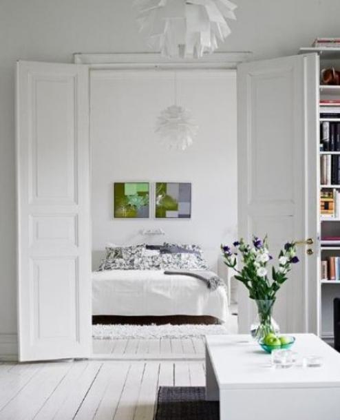 60平小户型装修蓝白色简约清新公寓