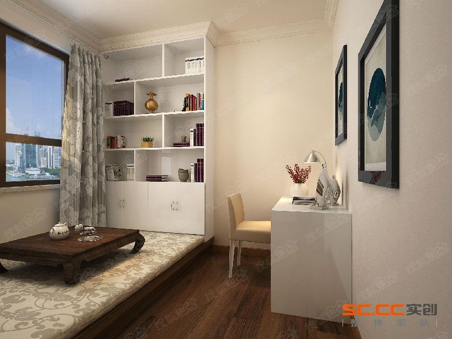 兰州实创装饰 现代简约两居室竖条纹理带来的情趣高清图片