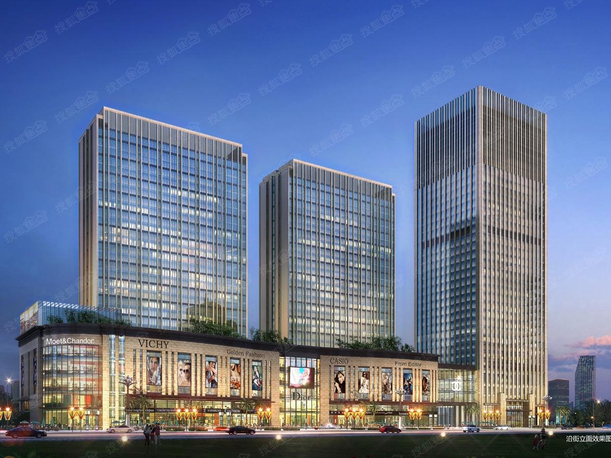 易大天地商业综合体沿街效果图 -易大天地楼盘效果图高清图片