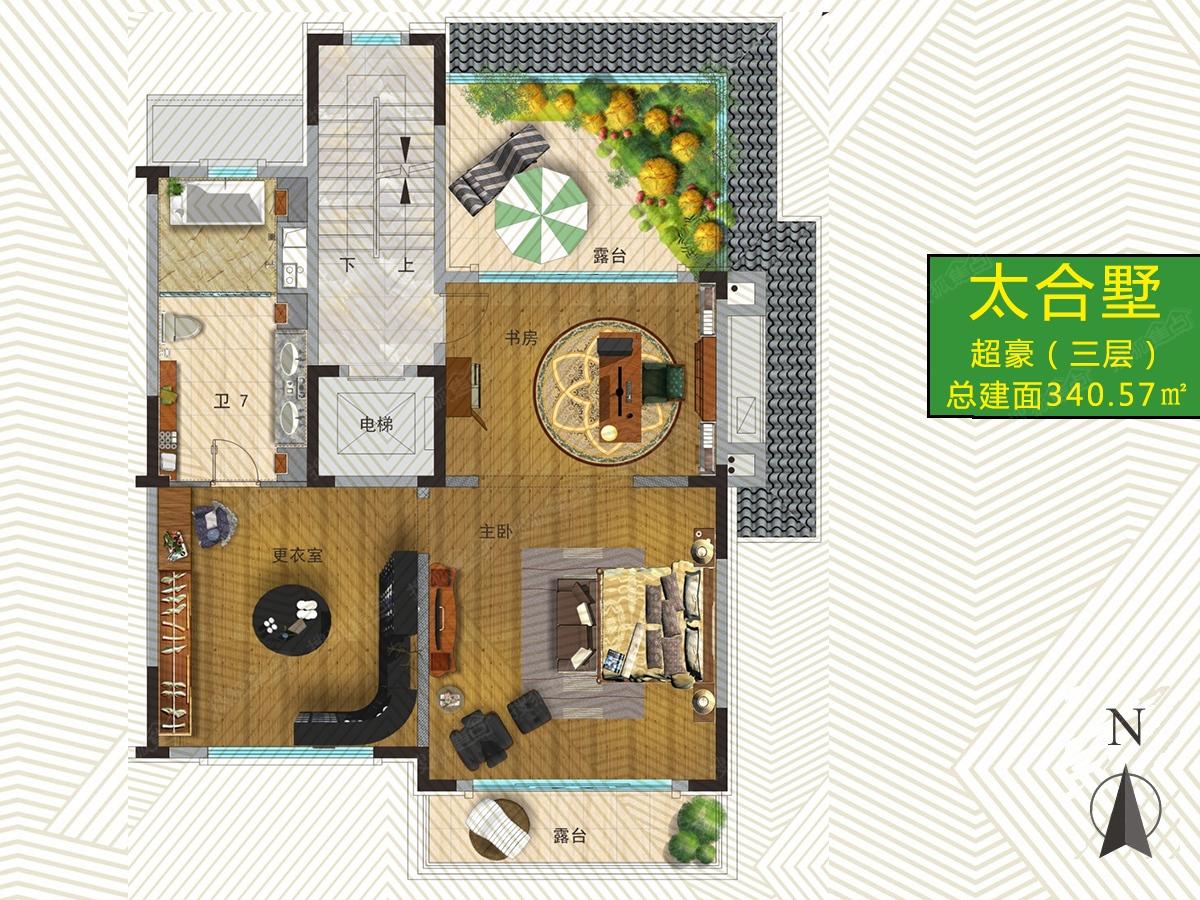 中国海南海花岛一居室太合墅_中国海南海花岛户型图