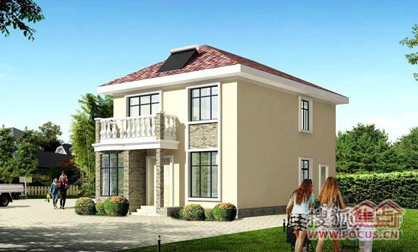 在农村准备建2层半的房子,8X12米,自己设计了平面图,请大仙指点 图片