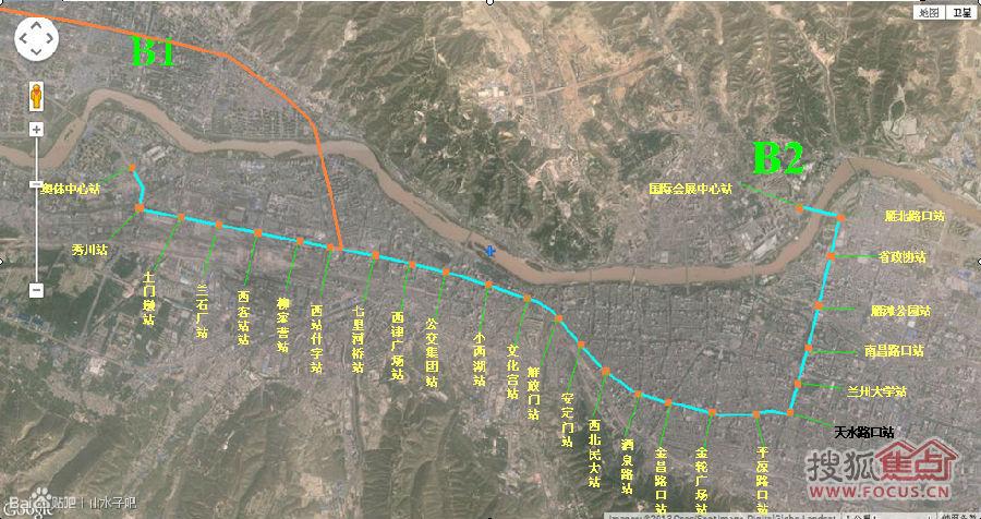 兰州BRT2号线线路图已出图片
