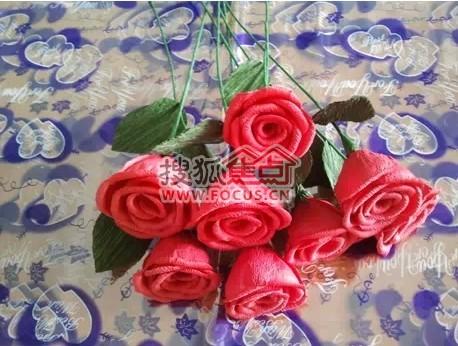 手工玫瑰花-母亲节特供-炼化送货上门