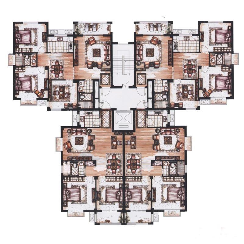 永和尚居户型图单身公寓平面图户型图户型