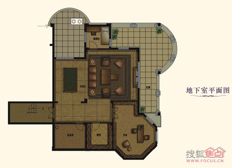 户型b-1地下室平面图别墅别墅云曼龙泉山图片