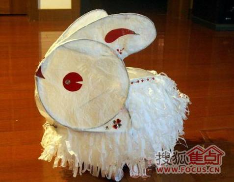 兔子手工制作图片铁丝