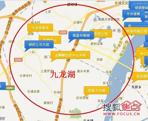 南昌朝阳新城规划图 南昌大都市区规划 南昌幸福渠规划图