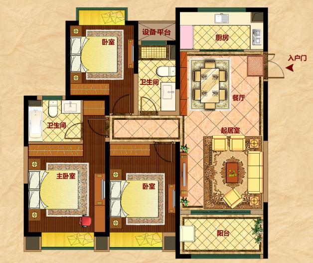 8米宽8米深房屋设计图展示