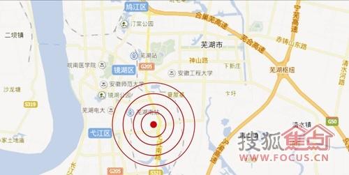 芜湖外经广场区位示意图