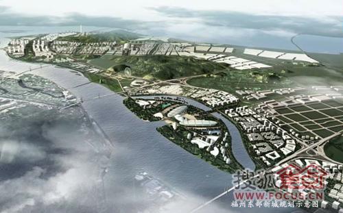 福州东部新城规划示意图-中国风逆袭 泰禾院子琼林台入主滨海城市中心