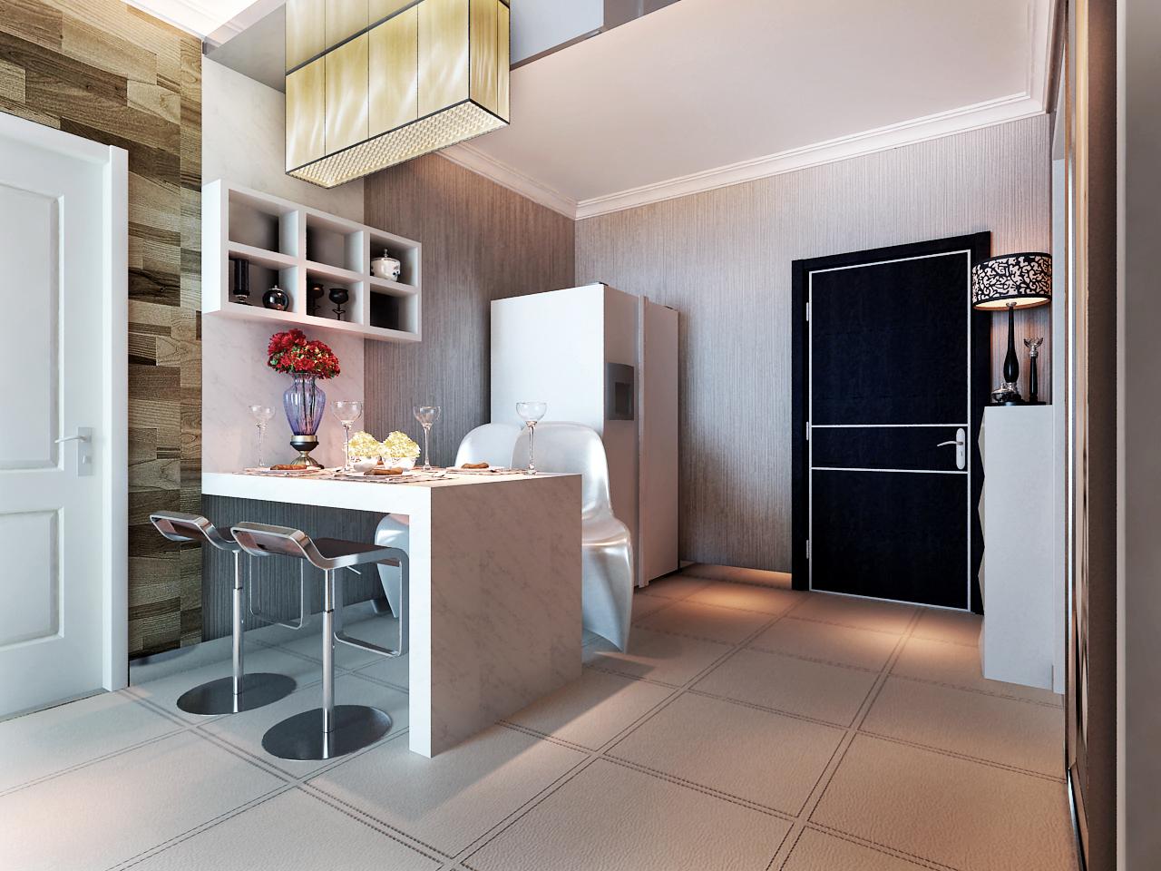 砖制的吧台,柔和的灯光图片