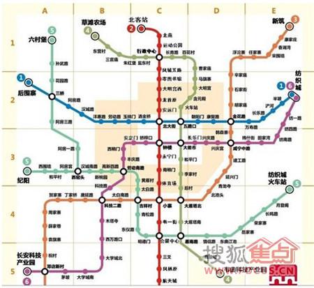 西安地铁线路